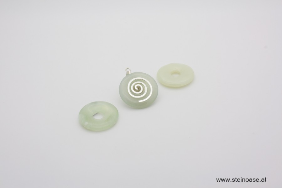 1 Stk. Donut 30mm Serpentin - Jade